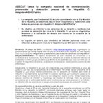 Nota de prensa #ObjetivoNOHEPatisis - Asscat