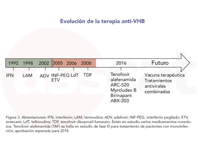 Evolución terapia Anti-VHB asscat
