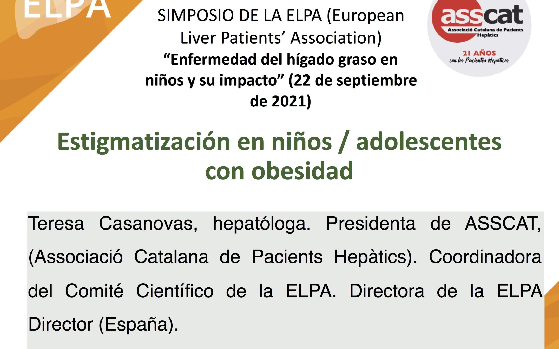 """Presentación sobre la """"Enfermedad del hígado graso en niños y su impacto"""" en el Simposio de la ELPA celebrado el 22 de septiembre"""