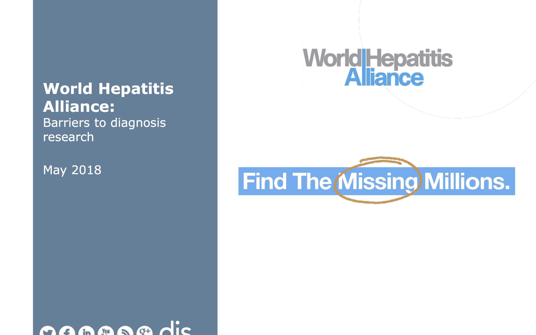 """Informe World Hepatitis Alliance: """"Barreras para la investigación del diagnóstico de las hepatitis víricas"""""""