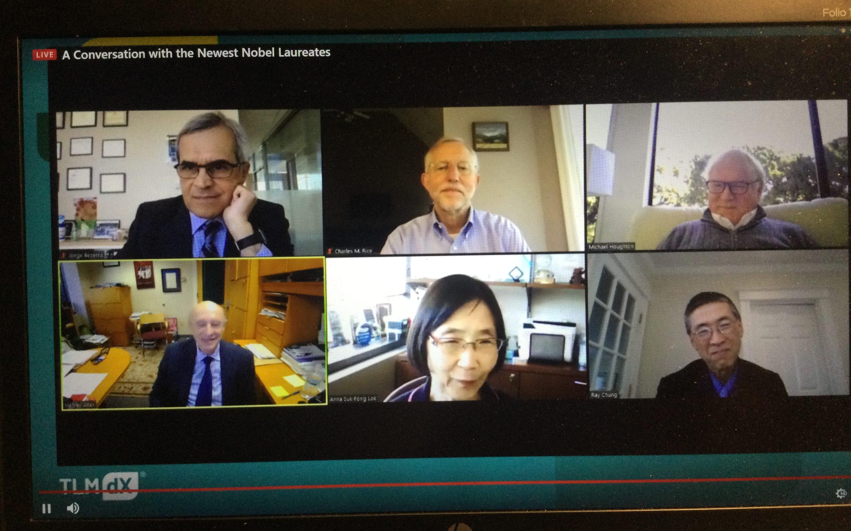 Conversación online con los científicos que recibieron el Premio Nobel de Medicina 2020