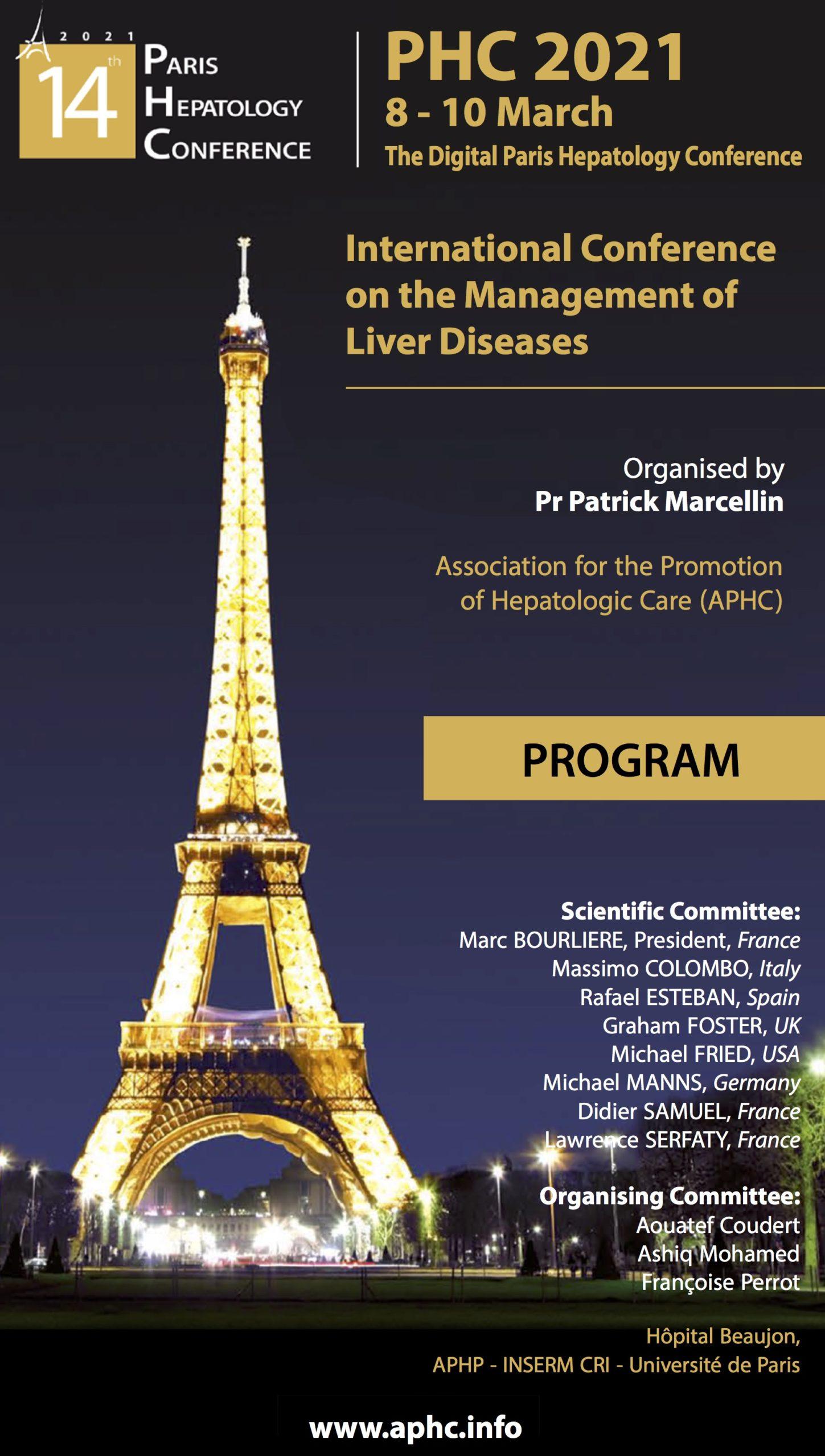 Simpòsium sobre l'Hepatitis B durant el Congrés Paris Hepatology Meeting, que va tenir lloc online del 8 al 10 de març