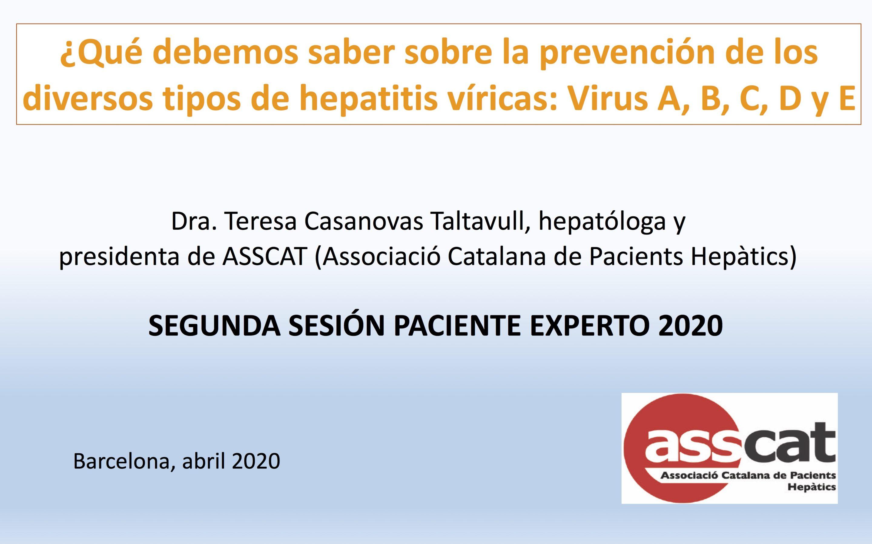 Segunda sesión Paciente Experto en Hepatología 2020