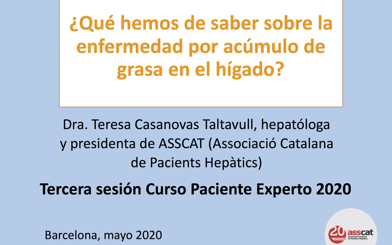 Tercera sesión Paciente Experto en Hepatología 2020